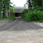 A large Gravel Paved project in Hudsonville.  Approach to a very unique barn overlooking the muck flats.  Crushed asphalt was used to help stabilize the clay sub soil.
