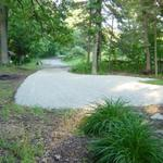 "Gravel driveway in Newaygo.  Installed a 2"" top layer of bright white Dolomite gravel."