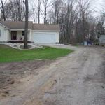BEFORE - Spring Lake driveway renovation, installation of recycled crushed asphalt.
